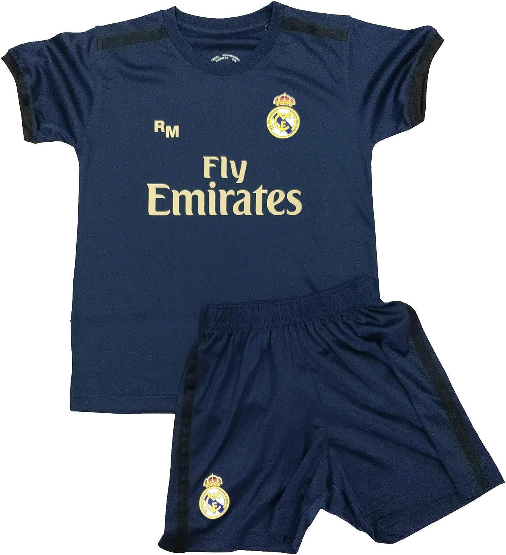 Champion's City Kit - Personalizable - Camiseta y Pantalón Infantil Segunda Equipación - Real Madrid - Réplica Autorizada
