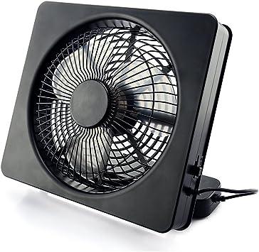 Ventilador cuadrado portátil Welltop de 15 cm (6 pulgadas) y 2 velocidades, alimentado por USB o pilas AA. Ventiladores de escritorio ajustables angulares: Amazon.es: Bricolaje y herramientas