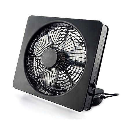 Welltop 6 pulgadas portátil USB Ventilador o AA con pilas ventiladores de tabla Ángulo ajustable 2