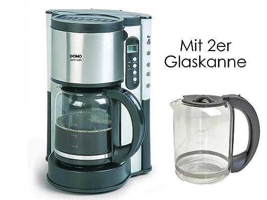 Acero inoxidable Cafetera con Temporizador y jarra de cristal de ...