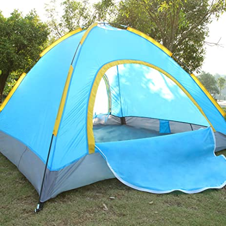 Ezyoutdoor C&ing Tent Outdoor Lightweight 3-4 person Double Layer Windproof Waterproof Tent Outdoor Ultralight & Amazon.com : Ezyoutdoor Camping Tent Outdoor Lightweight 3-4 ...