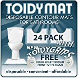 ToidyMat - (Incontinence Pads) 24 Disposable Contour Floor Mats for Bathrooms -