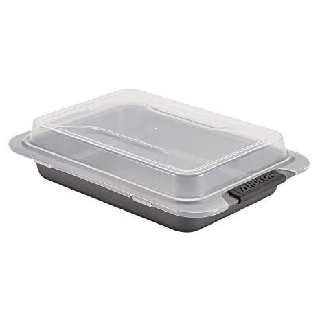 Anolon Advanced Nonstick Bakeware 9 Inch X 13 Inch Covered Cake Pan Gray