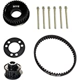 36 Teeth Drive Pulley Kit Flywheel Parts 12mm Belt Motor Gear Bolts Retainer DIY for 83mm 90mm 97mm 100mm Wheels Electric Ska