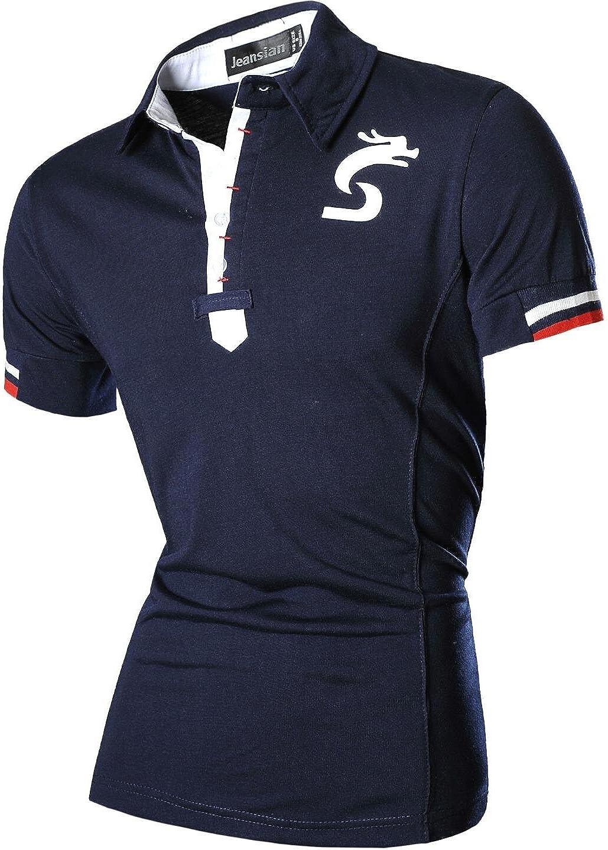 jeansian Hombres De Ropa Informal Slim Fit De Manga Corta Camisetas Mens Dress Casual Slim Fit Short Sleeve T-Shirts D403