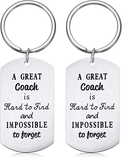 2 Pieces Coach Keychains Sport Coach Gifts with 2 Gift Boxes for Coach