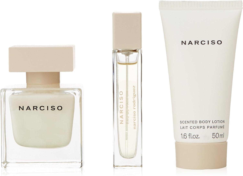 Narciso rodriguez eau de perfume 50ml con vaporizador + body milk 50ml + neceser: Amazon.es: Belleza