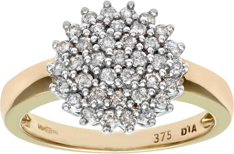 Naava Anillo para Mujer de Oro con Diamantes