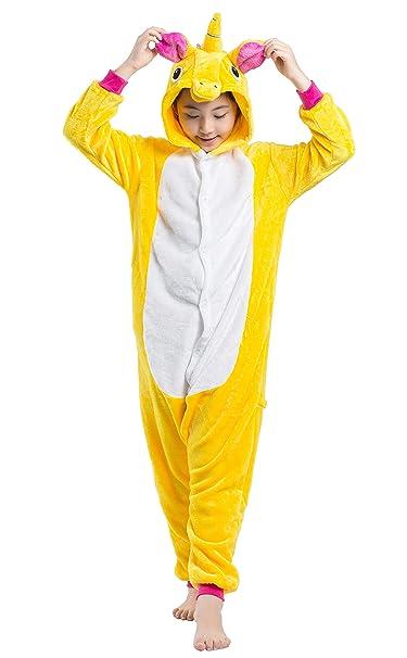 f3282ccb Pijama Kigurumi Niño Niña Animal Cuerpo Entero Cosplay Pyjamas Ropa de  Dormir con Capucha Unisex Halloween Navidad Carnaval Traje de Disfraz