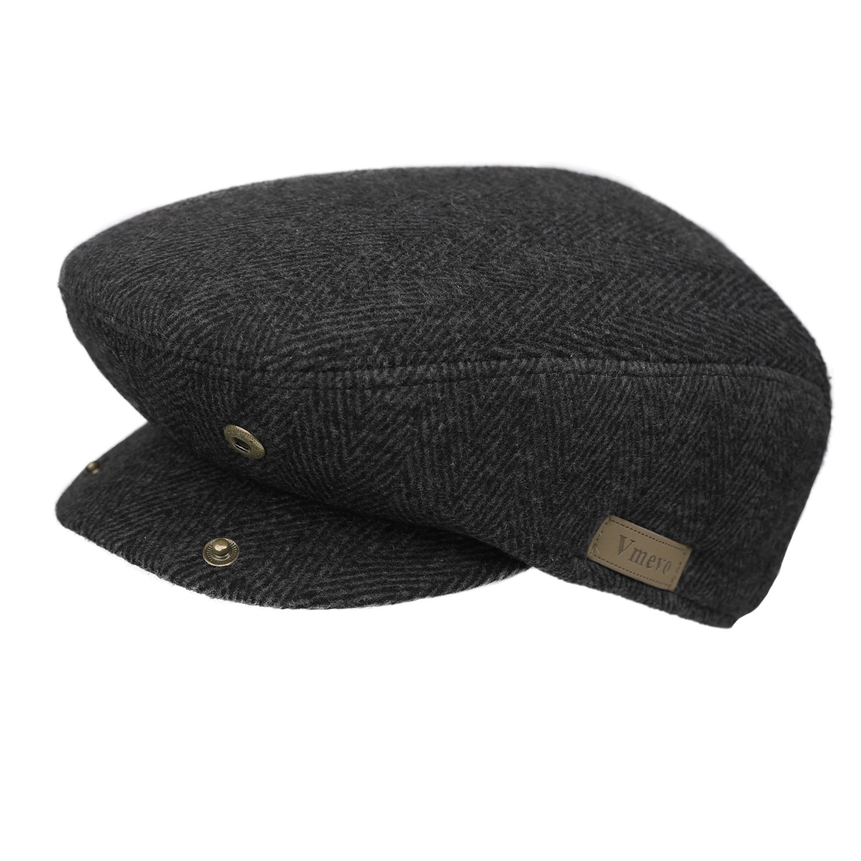 04f802f3cafba Vmevo Men s Flat IVY Gatsby newsboy Cap Warm Winter Driving Hunting  duckbill Hat   Newsboy Caps   Clothing