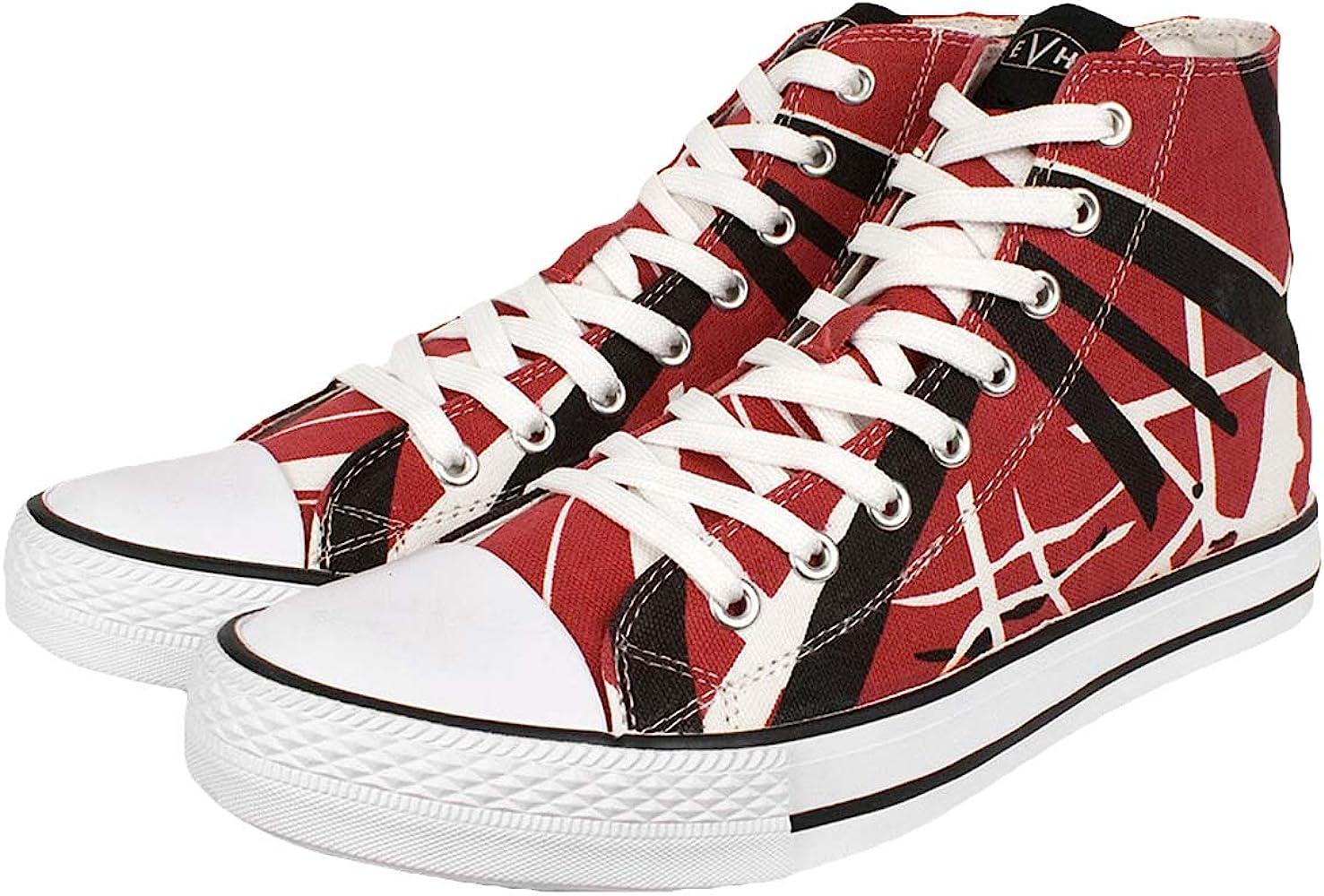 Amazon.com | EVH EDDIE VAN HALEN Burgandy Red HI Top Shoes ...