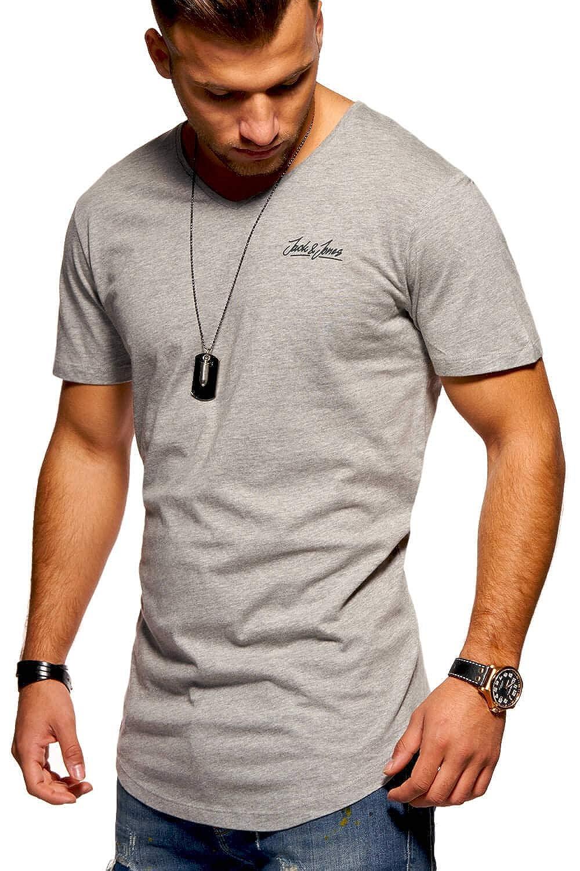 JACK & JONES Camiseta para Hombre T-Shirt Shirt Top Casual Imprésion Streetwear