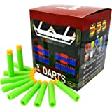 "EKIND 200 Pcs 7.2cm New Design TPR ""Waffles"" Soft Head Darts Refill Foam Bullet for Nerf N-strike Elite AccuStrike Series Blasters Toy Gun (Green)"
