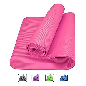 ROMIX Esterilla de Yoga Gruesa, 10-15mm Alfombras de Reversible Ecologica, 183cm No tóxico Colchoneta para Deporte Fitness Ejercicios, Gimnasio, ...
