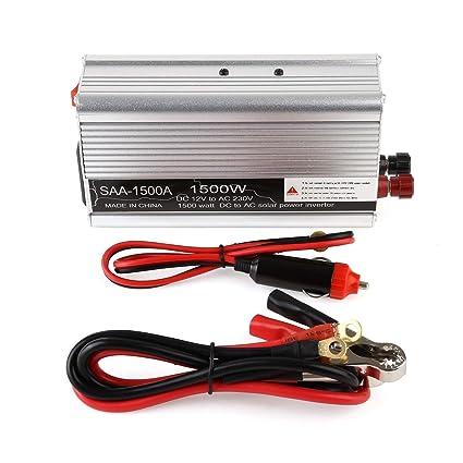 1500W Auto Power Inverter DC 12V a 220V / 230V AC inversor adaptador portátil con puerto USB