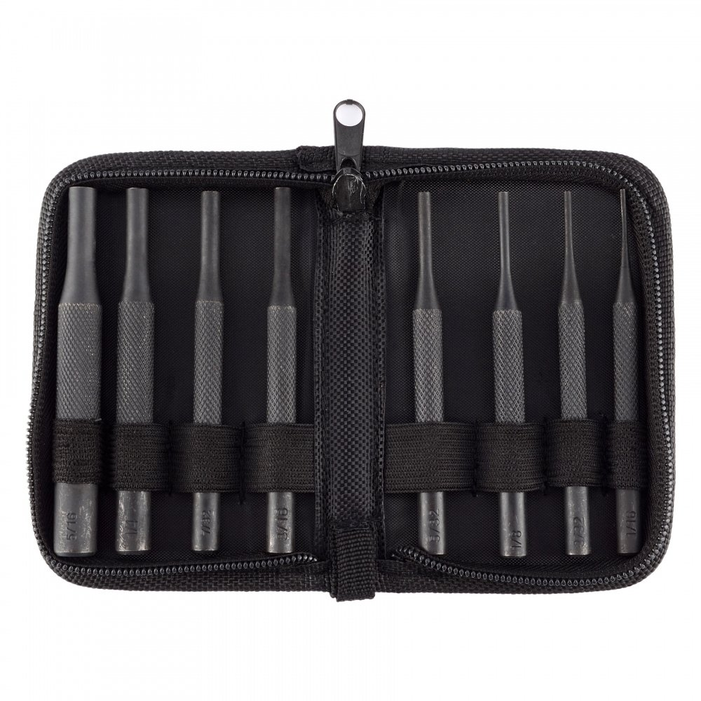 8 Pieces Gunsmith Grip Pin Punch Tool Set in Zippered Organizer Carry Case for for Woodwork Machinery Repairs and Crafts by BOOSTEADY