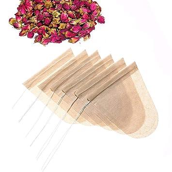 Womdee Bolsas de té vacías, Color Original, 100 Unidades ...