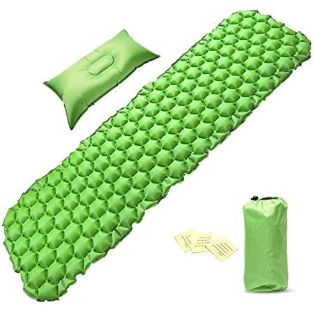 PACEARTH Sleeping Pad with Pillow for Camping