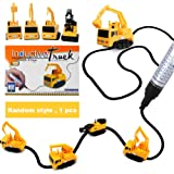 Mini Inductive Excavator, 1 piece Train Toy Running Along the Line Drawn by Magic Pen-Good, Great gift for kids by Sportsvoutdoors