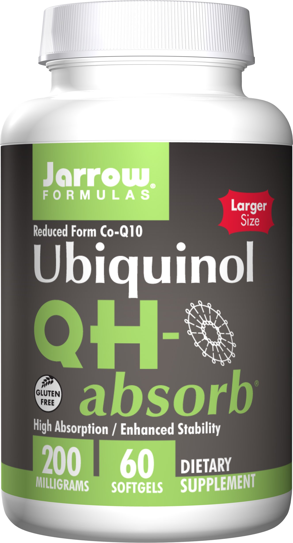 Jarrow Formulas QH-Absorb, High Absorption/Enhanced Stability, 200 mg, 60 Softgels