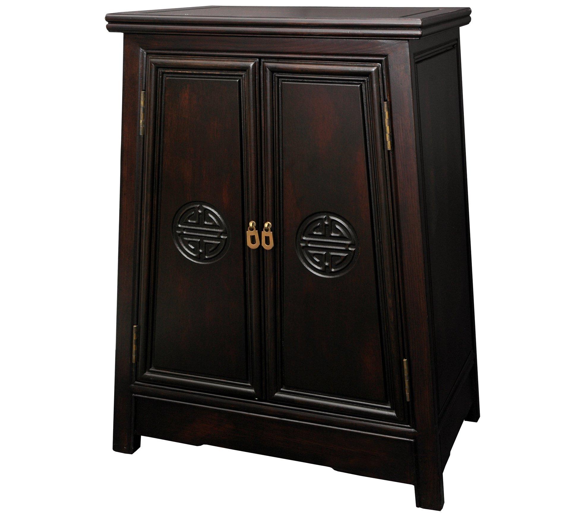Oriental Furniture Rosewood Long Life Cabinet
