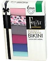 Felina Women's Low-Rise Bikini Panties (Pack of Six)