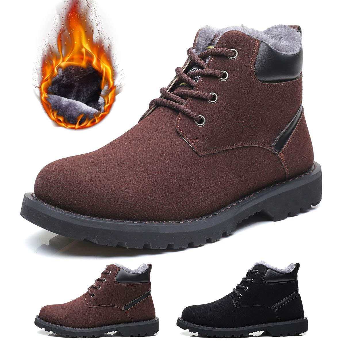 gracosy Winter Boots for Men, Men's Ankle Snow