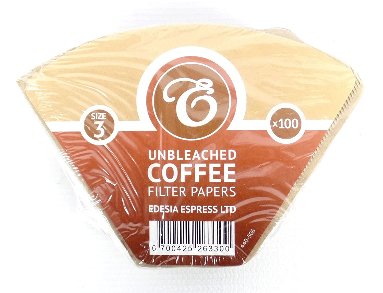 ungebleicht EDESIA ESPRESS Kaffee-Filtert/üten Gr/ö/ße 3//102-100 St/ück