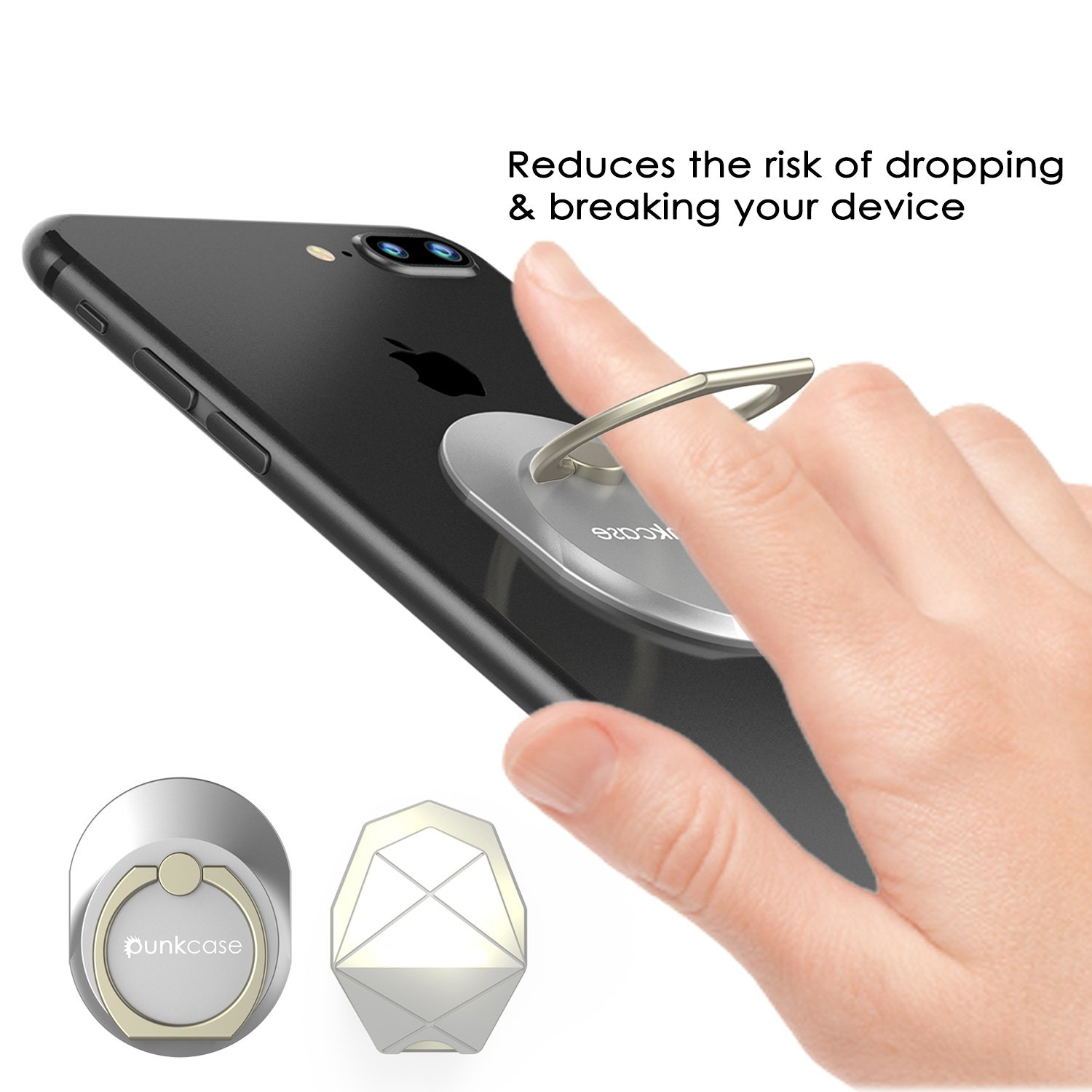 Car Mount /& Kickstand for Smartphones ROSE GOLD PUNKCASE S-RING Universal Phone Holder Phablets and Tablets Safely /& Comfortably Operate your iPhone or Android Device with One Hand