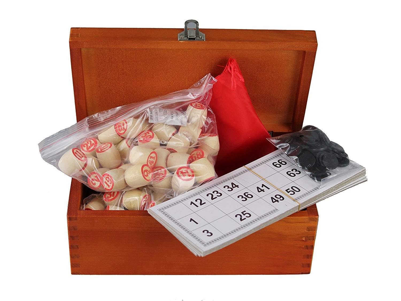 Bingospiel Lottospiel  Bingo Russische Klassischer Holz Loto Holzkiste kupfer
