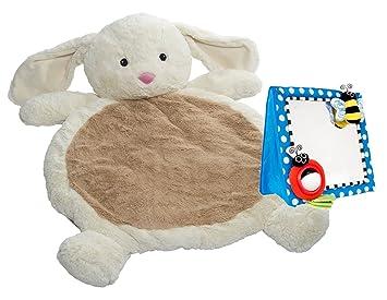 Amazon.com : Mary Meyer Bestever Baby Mat with Floor Mirror, Bunny ...
