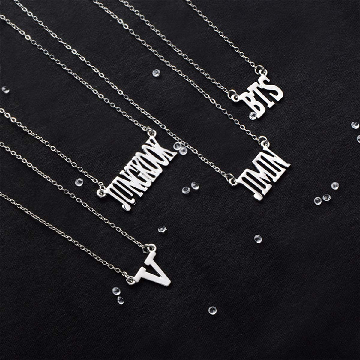 SIMYJOY BTS Women Personality Necklace Girls Letter Pendant Clavicle Chain Nice Gift