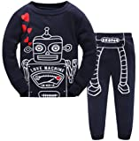 Amazon Price History for:Hugbug Toddler Boys Super Cute Robot Heart Pajama Set 2-7T