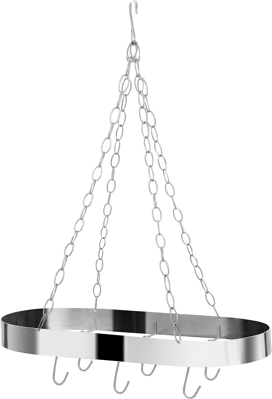 Premier Housewares Crochet Ovale de Plafond avec Crochet Chromé Chrome-Argent