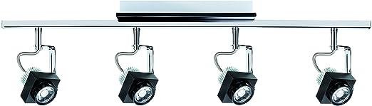 LED Deckenleuchte Strahler Spotlight Stange 2 x 3,5W GU10 Chrom Deckelampe