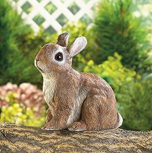 Garden Decor Adorable Sitting Bunny Outdoor Garden Statue …