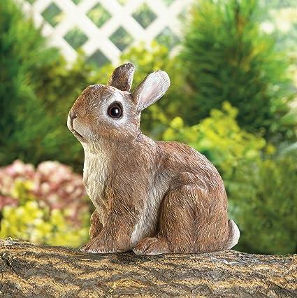 Garden Decor Adorable Sitting Bunny Outdoor Garden Statue U2026