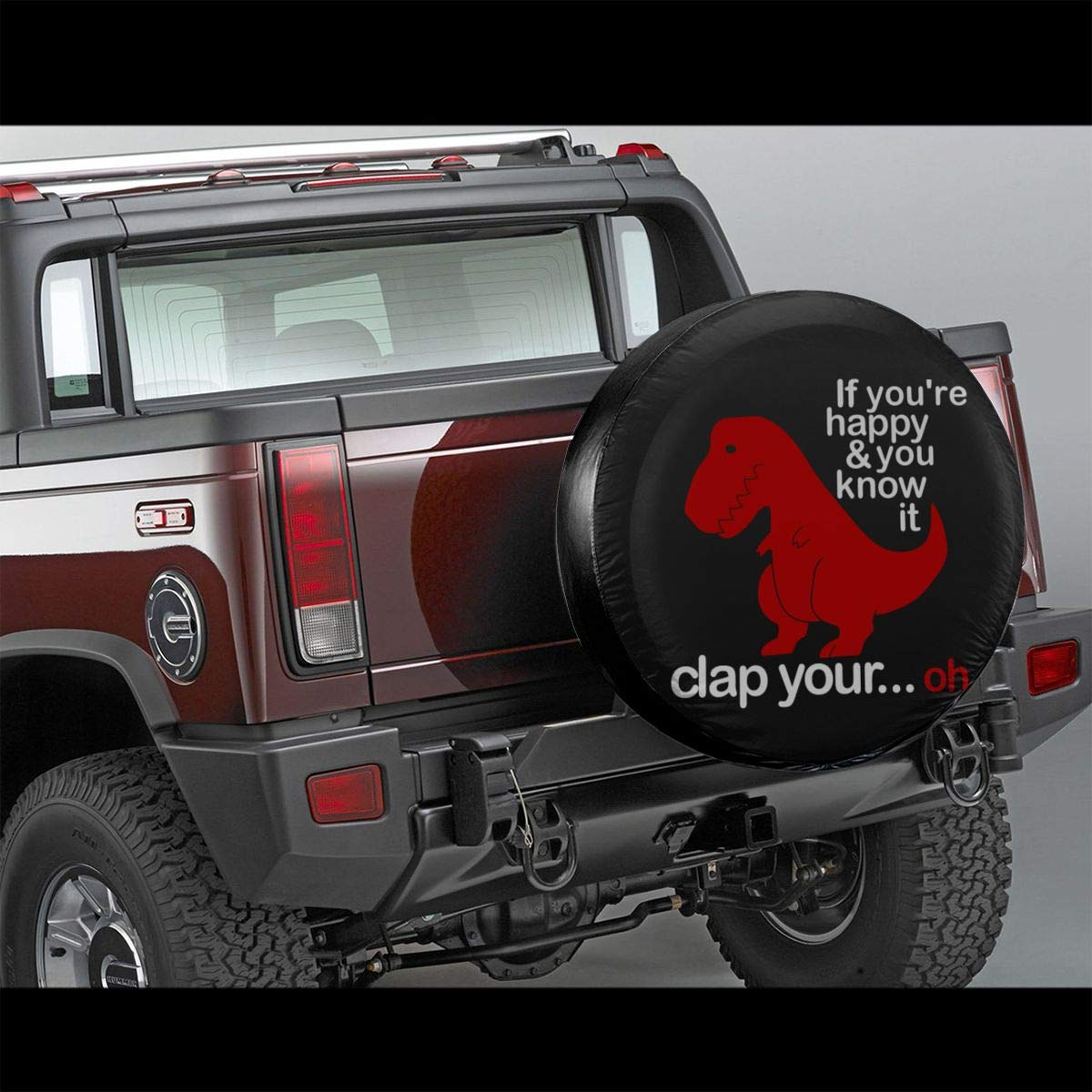 T Rex Funny Quotes with Text Dinosaurs Personalized Tire Cover Tire Sun Protectors Fit for Jeep Wrangler Camper