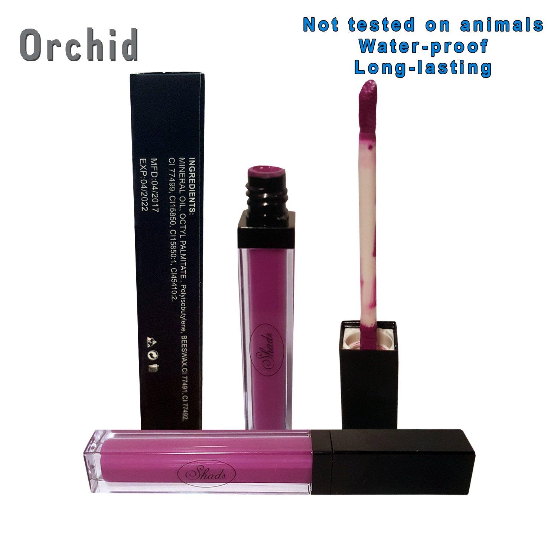 Cruelty-Free. Long Lasting Waterproof Metallic Liquid Lipstick. All Natural Ingredients (Queen) Shads