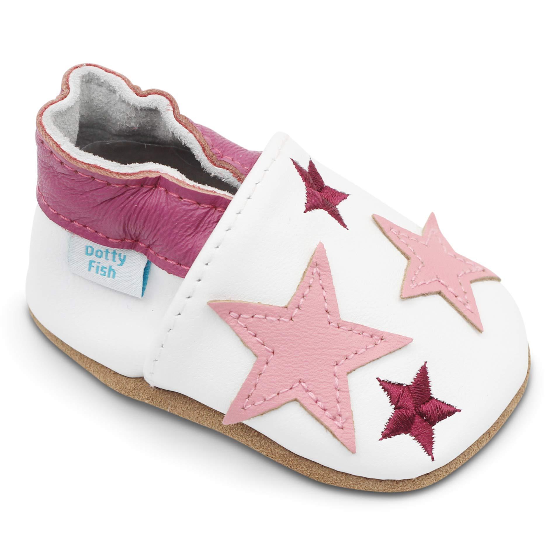 Dotty Fish Chaussures Cuir Souple bébé et Bambin. 0-6 Mois - 4- 0e48ff30a94