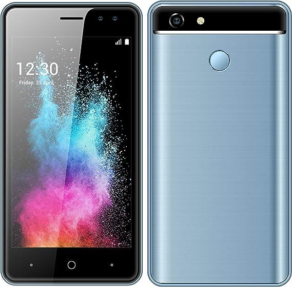 Móviles y Smartphones Libres, 5.5 Pulgadas Android GO Teléfono (5.0MP HD Cámaras,Dual SIM,1GB RAM & 4GB ROM (GPS,WiFi,Bluetooth etc.) (ShaQx A30-Azul): Amazon.es: Electrónica