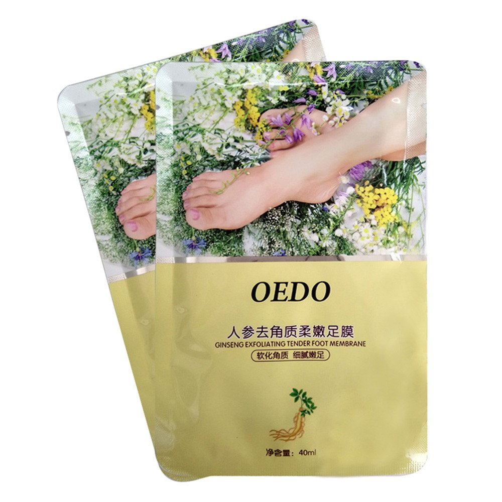 CieKen OEDO Remove Dead Skin Exfoliating Mask Foot Ginger Lavender Nourish Mask Cream, Remove Dead Skin Foot Mask Peeling Cuticles Heel Feet Care Anti Aging