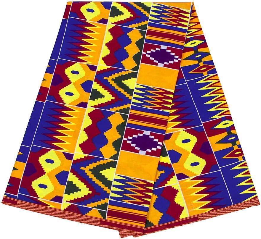 100/% Cotton,Sell by 6 Yards High Quality Kente  Print African Ankara Wax Print