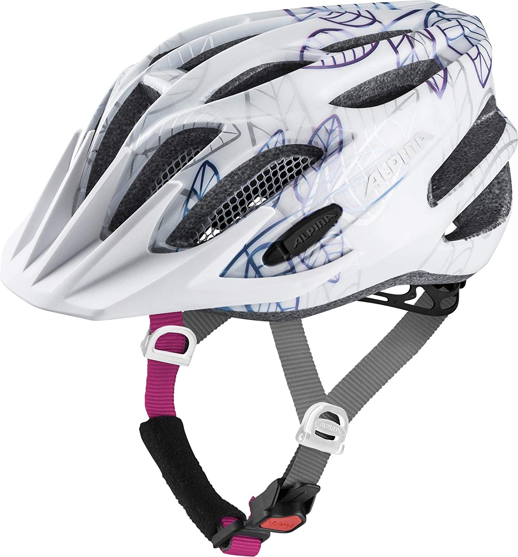 ALPINA FB 2.0 Jr.子供用自転車用ヘルメット - ホワイトフローラル、5055 cm   B07FR59FD3