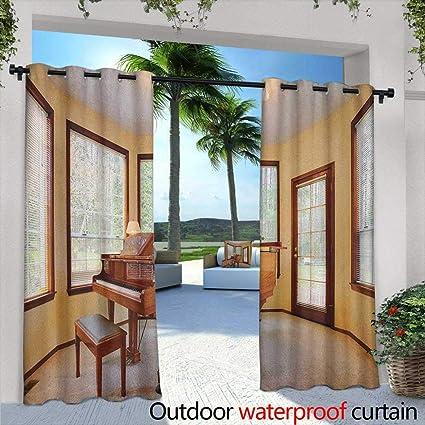 Amazon.com : Marilds Antique Curtains for Living Room Round ...