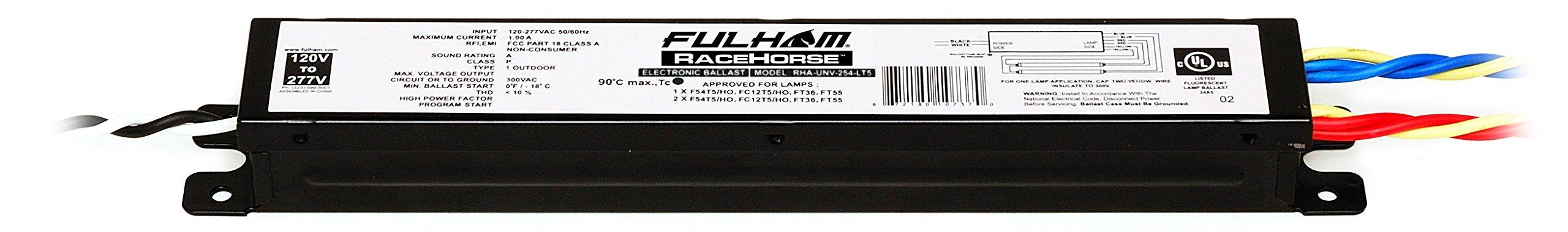 Fulham Lighting Fulham Racehorse Linear Ballast for T5HO, RHA-UNV-254-LT5