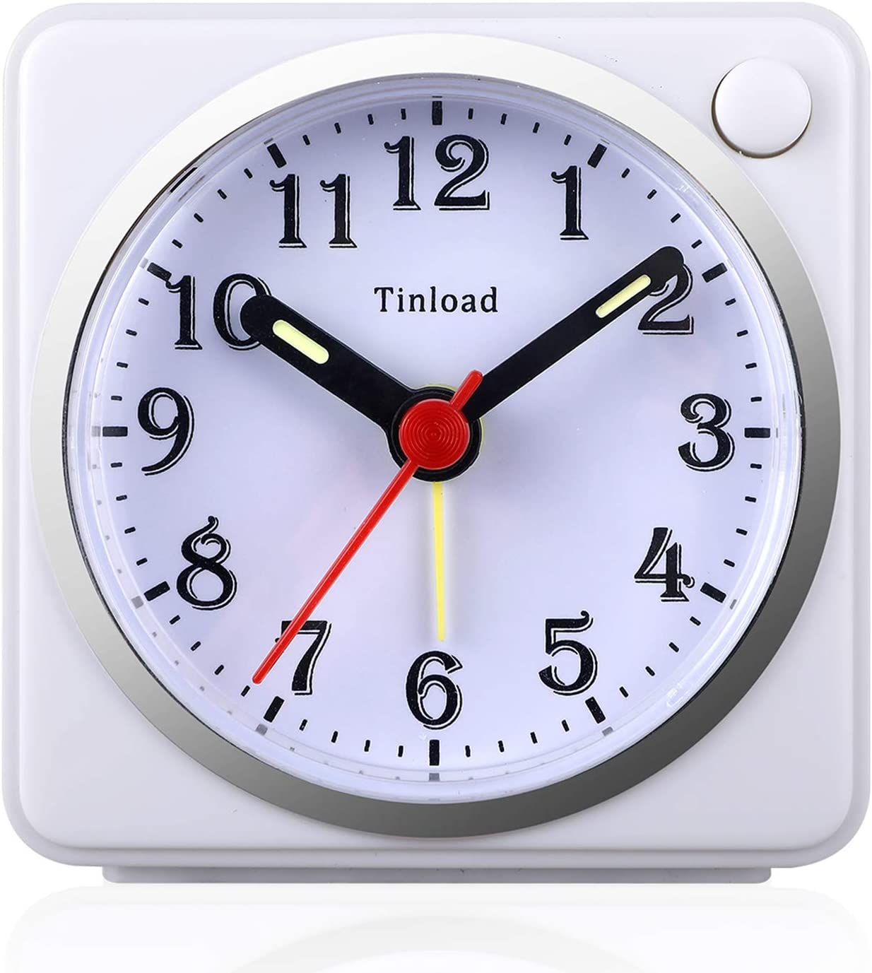 Increasing Beep Sounds Silent Non Ticking Tinload Analog Alarm Clock for Kids Telling Time Teaching Design Battery Operated Snooze and Light Functions Red