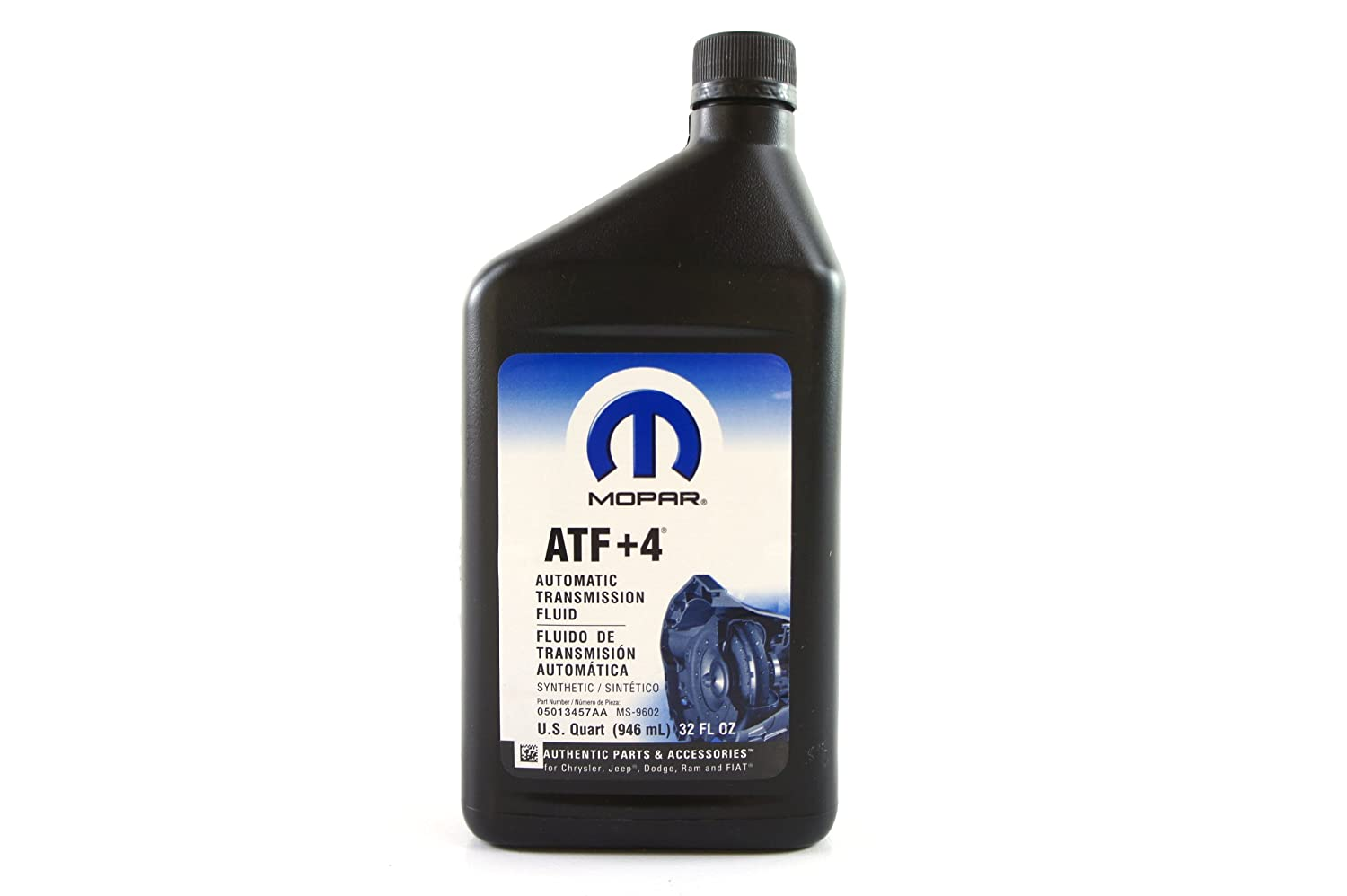 Amazon.com: Chrysler (68218057AA) Genuine Mopar Fluid ATF+4 Automatic Transmission  Fluid - 1 Quart: Automotive