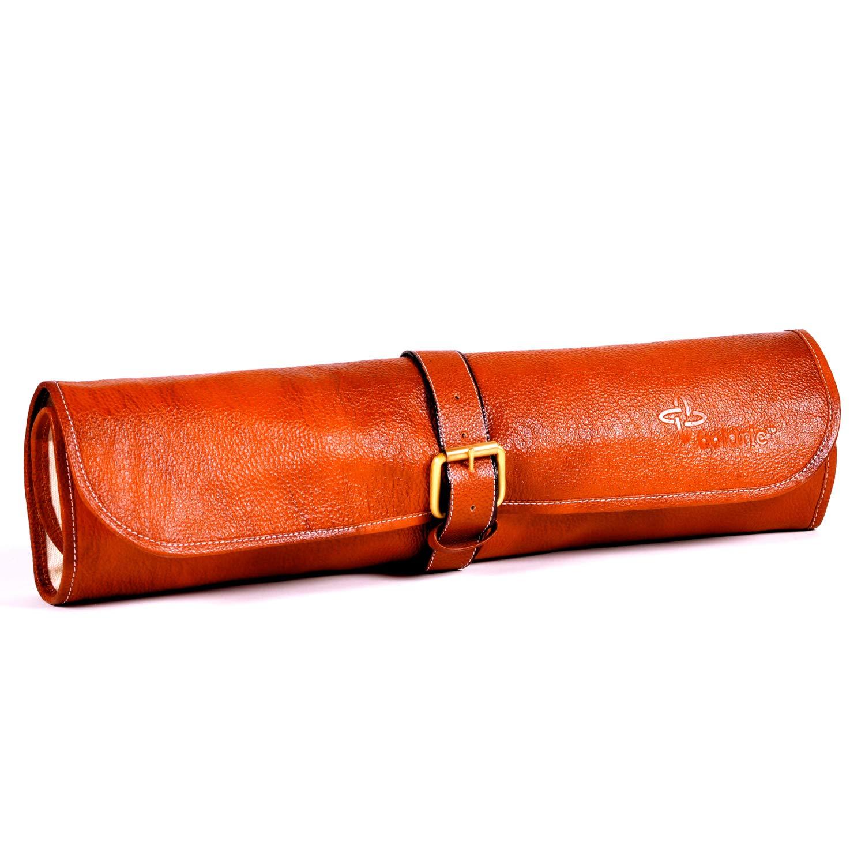 Boldric Tan Leather 8 Slot One Buckle Knife Bag
