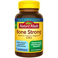 Nature Made Bone Strong with Calcium 260mg, Vitamin D3 1000IU, and Magnesium 250mg...